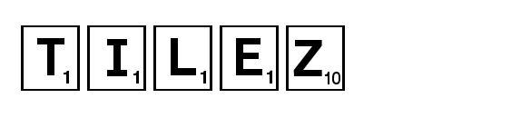 Tilez font, free Tilez font, preview Tilez font