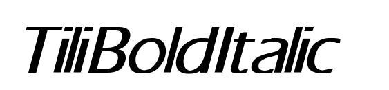 Шрифт Tili Bold Italic
