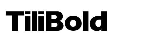 Шрифт Tili Bold