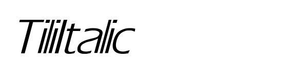 Шрифт Tili Italic