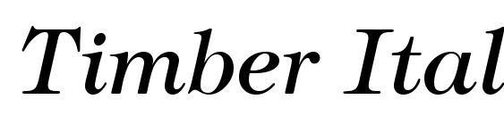 Шрифт Timber Italic