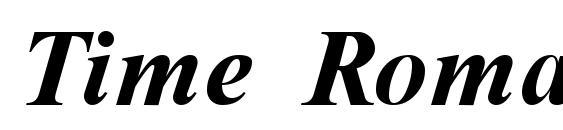 Time Roman Bold Italic Font