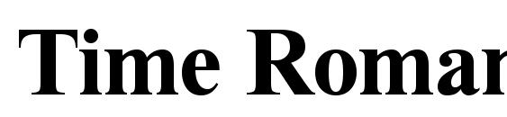 Time Roman Bold Font