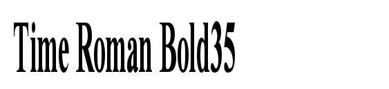 Time Roman Bold35 Font