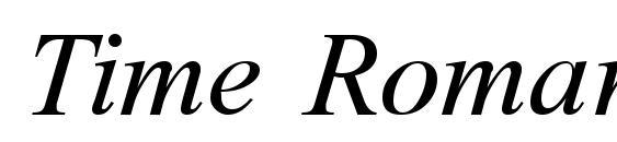 Time Roman Italic Font