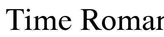 Time Roman Font
