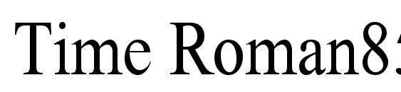 Time Roman85n Font