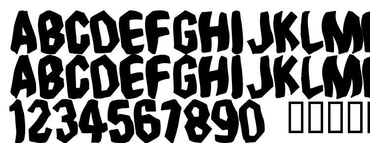 глифы шрифта Timebomb, символы шрифта Timebomb, символьная карта шрифта Timebomb, предварительный просмотр шрифта Timebomb, алфавит шрифта Timebomb, шрифт Timebomb