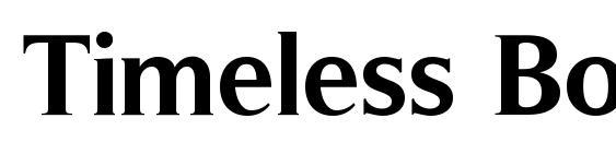 Timeless Bold Font