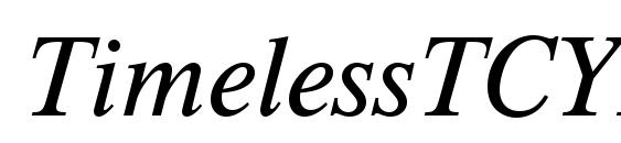 Шрифт TimelessTCYLig Italic