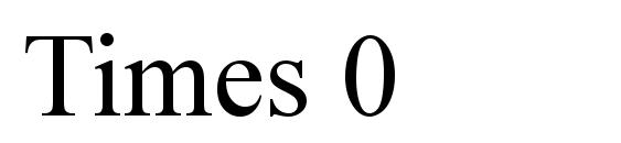 Шрифт Times 0