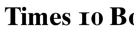 Times 10 Bold Oldstyle Figures Font