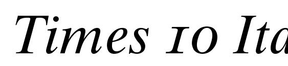 Times 10 Italic Oldstyle Figures Font