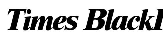 Times BlackItalic Font