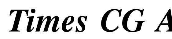 Шрифт Times CG ATT Bold Italic