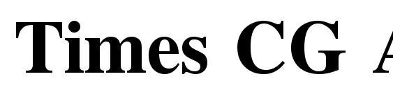 Times CG ATT Bold Font