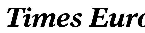 Шрифт Times Europa LT Bold Italic