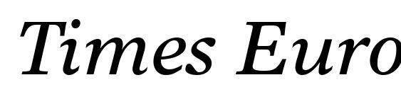 Шрифт Times Europa LT Italic