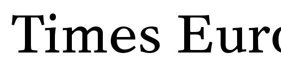 Шрифт Times Europa LT Roman