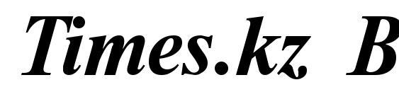 Times.kz Bold Italic Font
