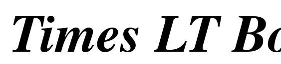 Шрифт Times LT Bold Italic