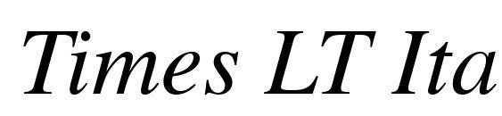 Шрифт Times LT Italic
