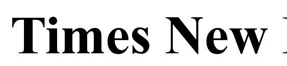 Times New Rom B Font