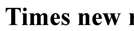 Times new roman bold Font