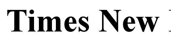 Шрифт Times New Roman CE Bold