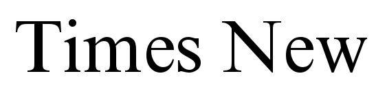 Times New Roman Cyr Font