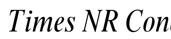 Times NR Condensed Italic Font