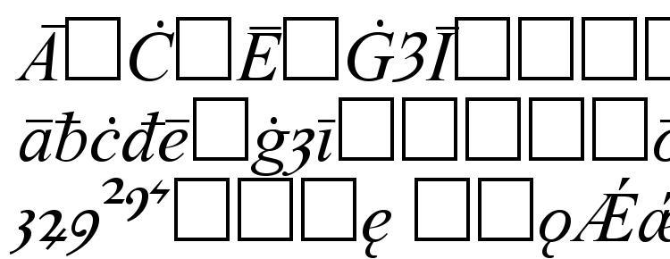 глифы шрифта Times old english italic, символы шрифта Times old english italic, символьная карта шрифта Times old english italic, предварительный просмотр шрифта Times old english italic, алфавит шрифта Times old english italic, шрифт Times old english italic