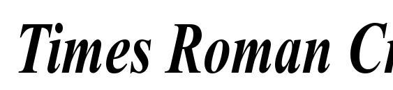 Шрифт Times Roman Cn Bold Italic