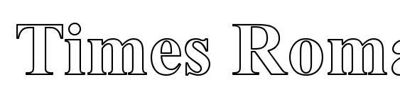 Times Roman Hollow Bold Font