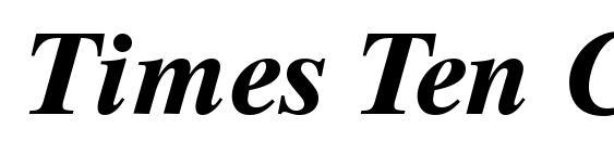Шрифт Times Ten CE Bold Italic