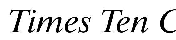 Times Ten CE Italic Font