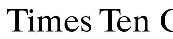 Times Ten CE Roman Font