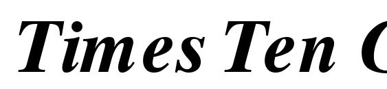 Times Ten Greek Bold Inclined Font
