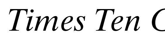 Times Ten Greek Inclined Font