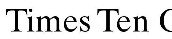 Times Ten Greek Upright Font