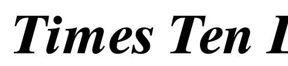 Шрифт Times Ten LT Bold Italic