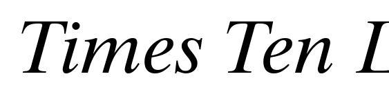 Times Ten LT Italic Font