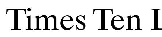 Шрифт Times Ten LT Roman