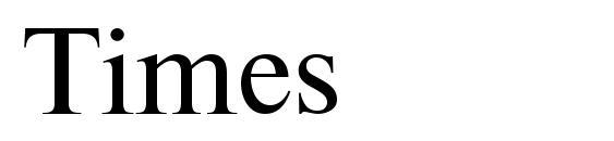 Шрифт Times