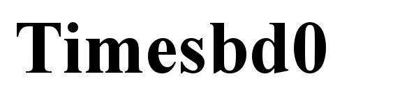 Timesbd0 Font