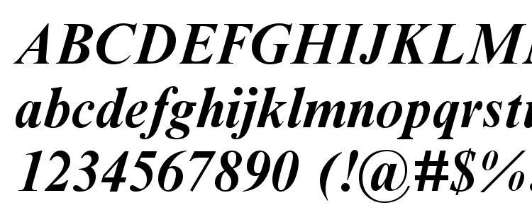 глифы шрифта Timesbi2, символы шрифта Timesbi2, символьная карта шрифта Timesbi2, предварительный просмотр шрифта Timesbi2, алфавит шрифта Timesbi2, шрифт Timesbi2