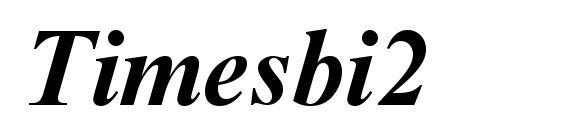 Шрифт Timesbi2