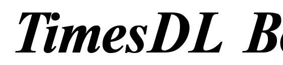 TimesDL Bold Italic Font