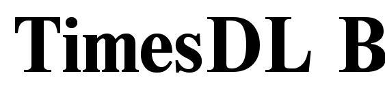 TimesDL Bold Font