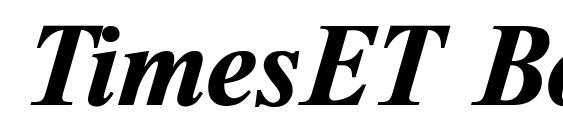 TimesET Bold Italic Font